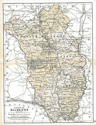 Map of County Kilkenny. Ireland, dated 1897.