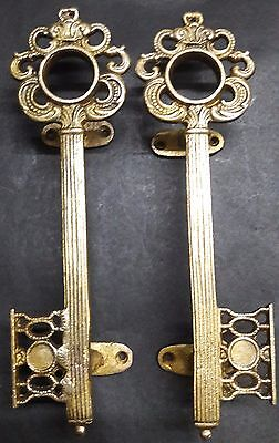 Key Design Antique Vintage Finish Handcrafted Brass Door Handle Door Pull Knobs