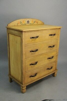1930s Hand Painted Monterey Dresser Antique Wood Vintage Rancho Bedroom (10286)
