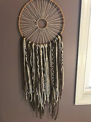 Dream catcher, hand made, light and dark brown, new