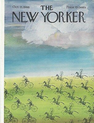 COVER ONLY The New Yorker magazine ~October 15 1966 ~ STEINBERG ~Native warriors