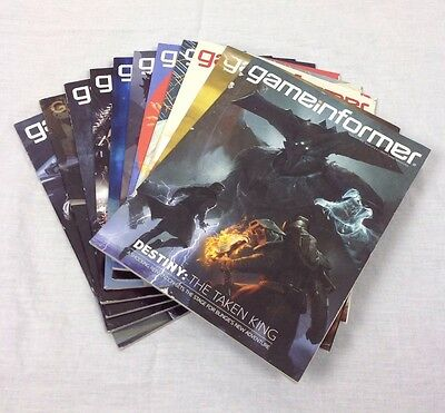 Lot Of 11 Gameinformer Magazines Sept. 2015 - July 2016, 269-279