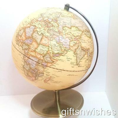 BEAUTIFUL World Globe Antique Embossed 36 x 25cm Educational