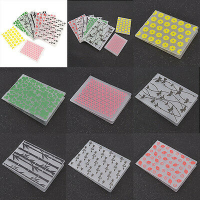 Plastic Embossing Folder Template Stencil DIY Scrapbooking Cards Making Decor