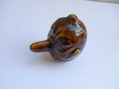 "Vintage Japanese Pottery Long Nose Bell 2 5/8"" Excellent"
