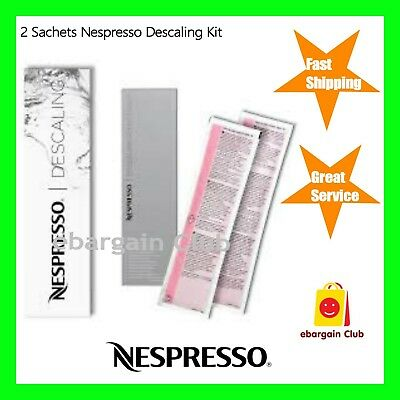 2 Sachets Original Nespresso Descaling Kit Descaler Coffee Machine eBargainClub