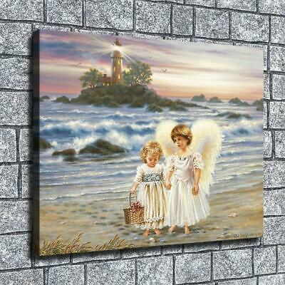 "12""x16""Angel in the sea Paintings HD Print on Canvas Home Decor Wall Art Picture"