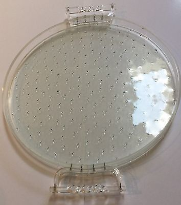 Vintage Lucite Acrylic and Glass Tray Large 39CM Diameter Hollywood Glamour $79