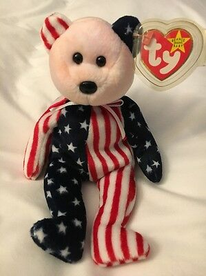 100% Authentic and Rare 1999 TY Spangle Pink Face Beanie Baby with Errors