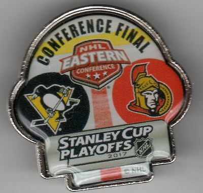 2017 Eastern Conference Dueling Team Pin Ottawa Senators Pittsburgh Penguins