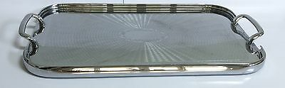 Art Deco Tray Chrome Polished Stainless Mirror Finish Ranleigh $40 Free Post