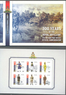 Isle of Man-Royal Artillery complete booklet mnh--Military