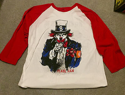 "PEARL JAM 2016 TOUR ""NO CLOWNS"" TRUMP T-SHIRT SIZE XL Vedder Jersey Sold Out"