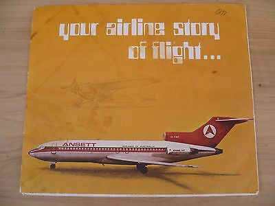 Vintage Old Ansett Australian Story Of Flight Book, Brochure, Airlines (E584)