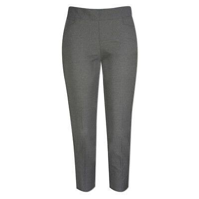 Adidas Ultimate Adistar Pull-On Cropped Trousers with Stretch Finish in Grey