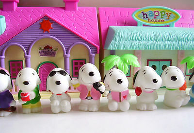 10pcs 10STYLES PEANUTS Figure Playset Toppers Snoopy pvc 5cm(2inch)Toy Doll