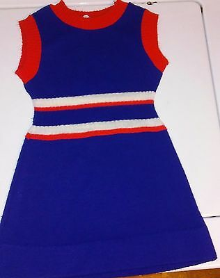 Vintage 60's or 70's Red, White and Blue Knit Childs Dress