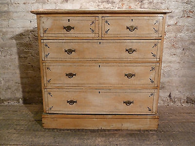 19th Century Original Painted Victorian Chest of Drawers Antique Cabinet