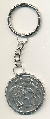 New Zealand 20cent Coin Key Ring - Kiwi Bird   #FO6