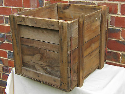 Fruit crate box, Wooden box, Timber Packing Case Industrial Rustic Shabby