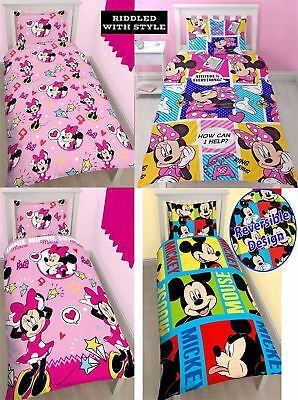 Disney Character Minnie Mouse Printed Reversible Rotary Children Duvet Set