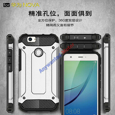 Heavy Duty Shockproof Hybrid Armor Tough Hard Protective Case Cover For Huawei