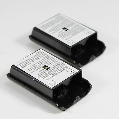 2 x Xbox 360 Battery Covers Black Shell Case Replacement for Wireless Controller