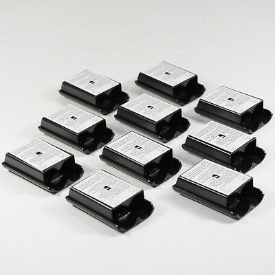 10x Xbox 360 Battery Covers Black Shell Case Replacement for Wireless Controller