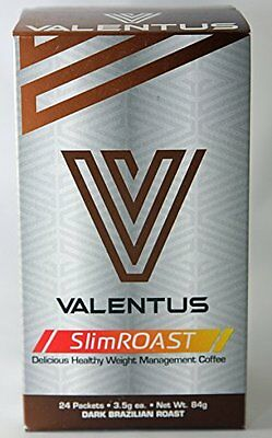 Valentus SlimRoast Dark Brazilian Roast Weightloss Coffee 12 Sachets