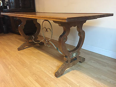 Antique Stunning Solid Oak Refectory Dining Table