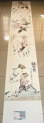 """Excellent Chinese Hand Painting Children Album By Fan Zeng 范曾277"""""""