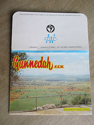 Vintage Murray Views Colour View Folder, Gunnedah NSW (Whacko Letter)