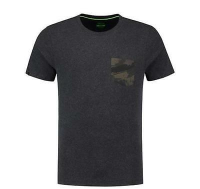 Korda Faux Pocket Tee Shirt Charcoal - All T Shirt Sizes Available