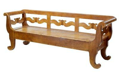 19Th Century Scandinavian Pine Bench