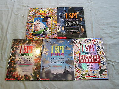 I Spy Picture Riddle Books lot of 5 Hardcover Fantasy Spooky Night Christmas M12