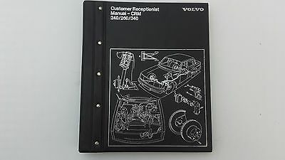 Volvo Customer Receptionist Manual Volvo 240 260 340 Genuine book