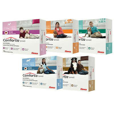 Comfortis Flea Tablets Chews Dogs Cats Home Pets Friends All Sizes Treatment