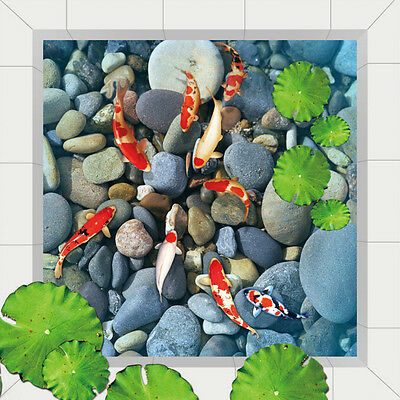 3D Pond stone fish 525 Floor WallPaper Murals Wall Print Decal 5D AJ WALLPAPER
