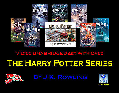 The Complete HARRY POTTER Series ~ By J.K. Rowling ~ UNABRIDGED MP3 CD~ Jim Dale