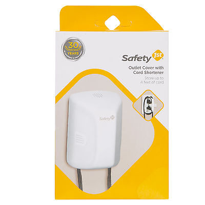 Safety 1st First Outlet Cover With Cord Shortener 48308 Baby Proofing - NIB