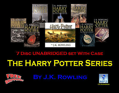 The Complete HARRY POTTER Series ~ J.K. Rowling ~ UNABRIDGED MP3 CD~ Stephen Fry