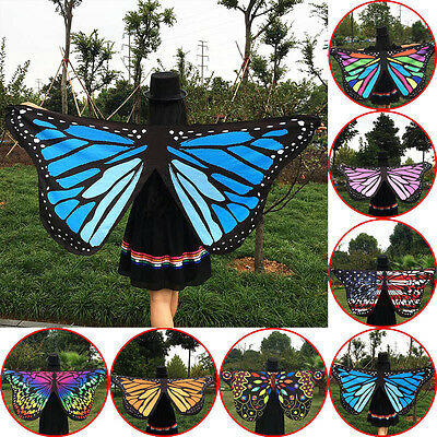 Fashion Fabric Butterfly Wings Shawl Fairy Ladies Nymph Pixie Costume Festival