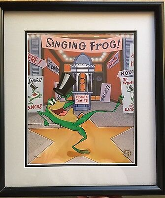 Classic Michigan J Frog Limited Edition Framed Cell w/ COA 126/500 Warner Bros