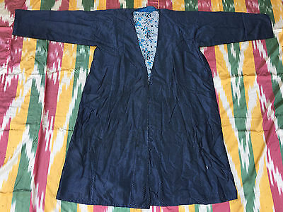 Antique Uzbek Vintage National Silk Robe Chapan