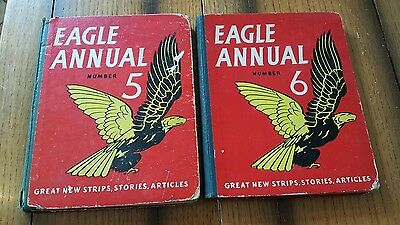 Vintage Eagle Annual Numbers 5 and 6. 1950's.