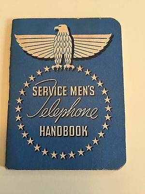 Vintage Military 1945 Service Men's Telephone Handbook From Great Lakes Illinois