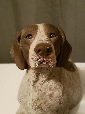 GERMAN SHORTHAIR POINTER Sandra Brue Sandicast dog sculpture
