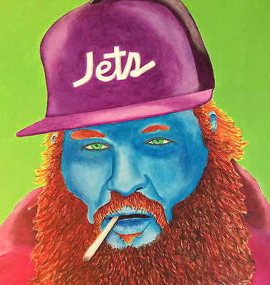"ORIGINAL ARTWORK ""ACTION BRONSON"" ACRYLIC ON CANVAS 30 x 40 PAINTING, HIP-HOP"