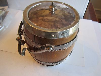 """Silver Plated Barrel Cooler? Hallmarked  Pns - 6 1/2"""" Tall & Heavy - Tub Ama"""