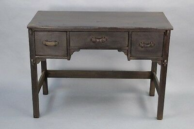 1930s Small Monterey Period Desk w Drawers Antique Wood Vintage Rancho (10087)